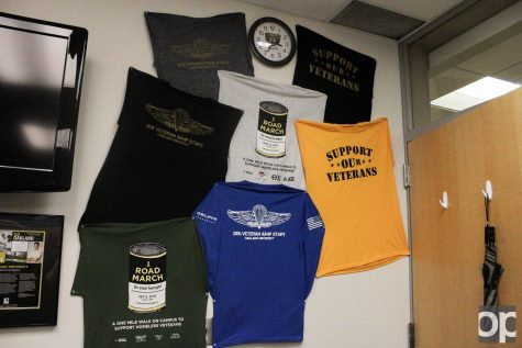 The promotional t-shirts for SVOU are on display. The green shirt on the bottom left was for this year's road march.