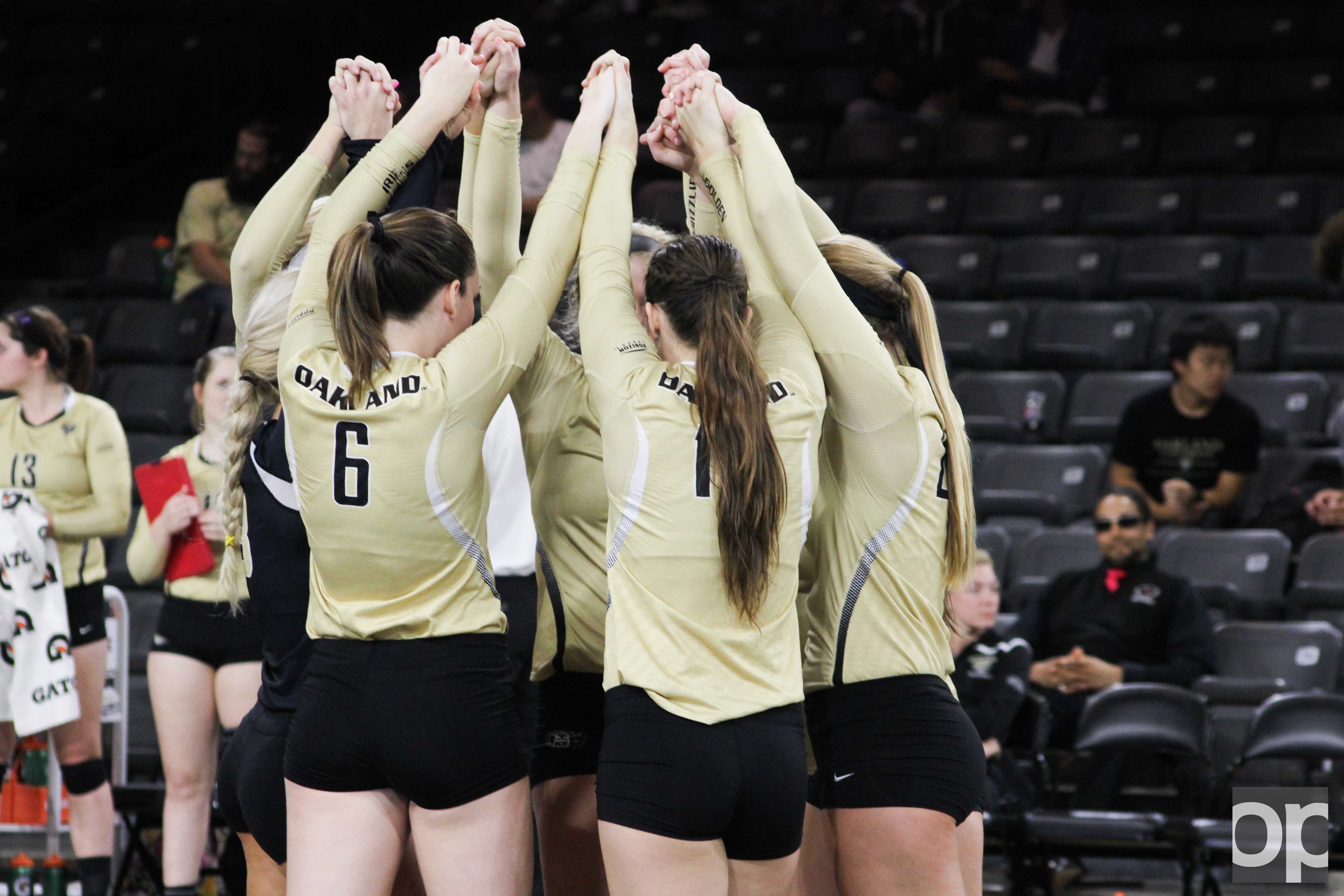 Oakland beat Western Michigan 3-0 at home on Tuesday, Sept. 13.