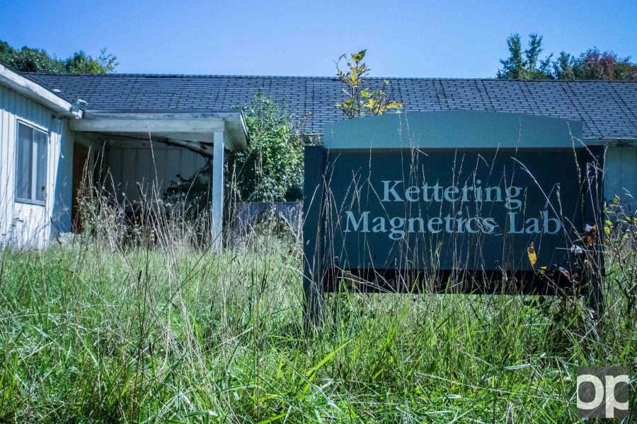 The Kettering Magnetics Lab and the Observatory were demolished this past year, leaving two vacant plots of land in the dense trees behind the newer parking structure.