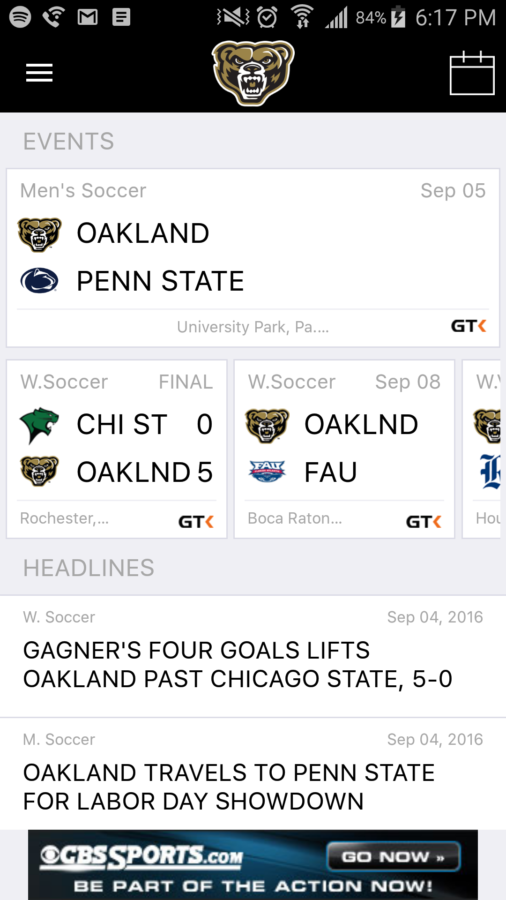 Oakland launched new Game Day app for Android and iOS.