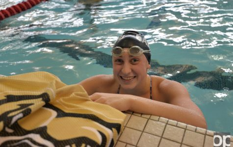 Freshman Rileigh Eding was the 2015 Michigan Division III 50-yard freestyle state champion.