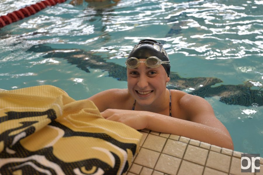 Freshman+Rileigh+Eding+was+the+2015+Michigan+Division+III+50-yard+freestyle+state+champion.
