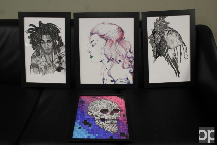 Students submitted some of their artwork for consideration. The winner's artwork will be displayed inside Kresge Library.