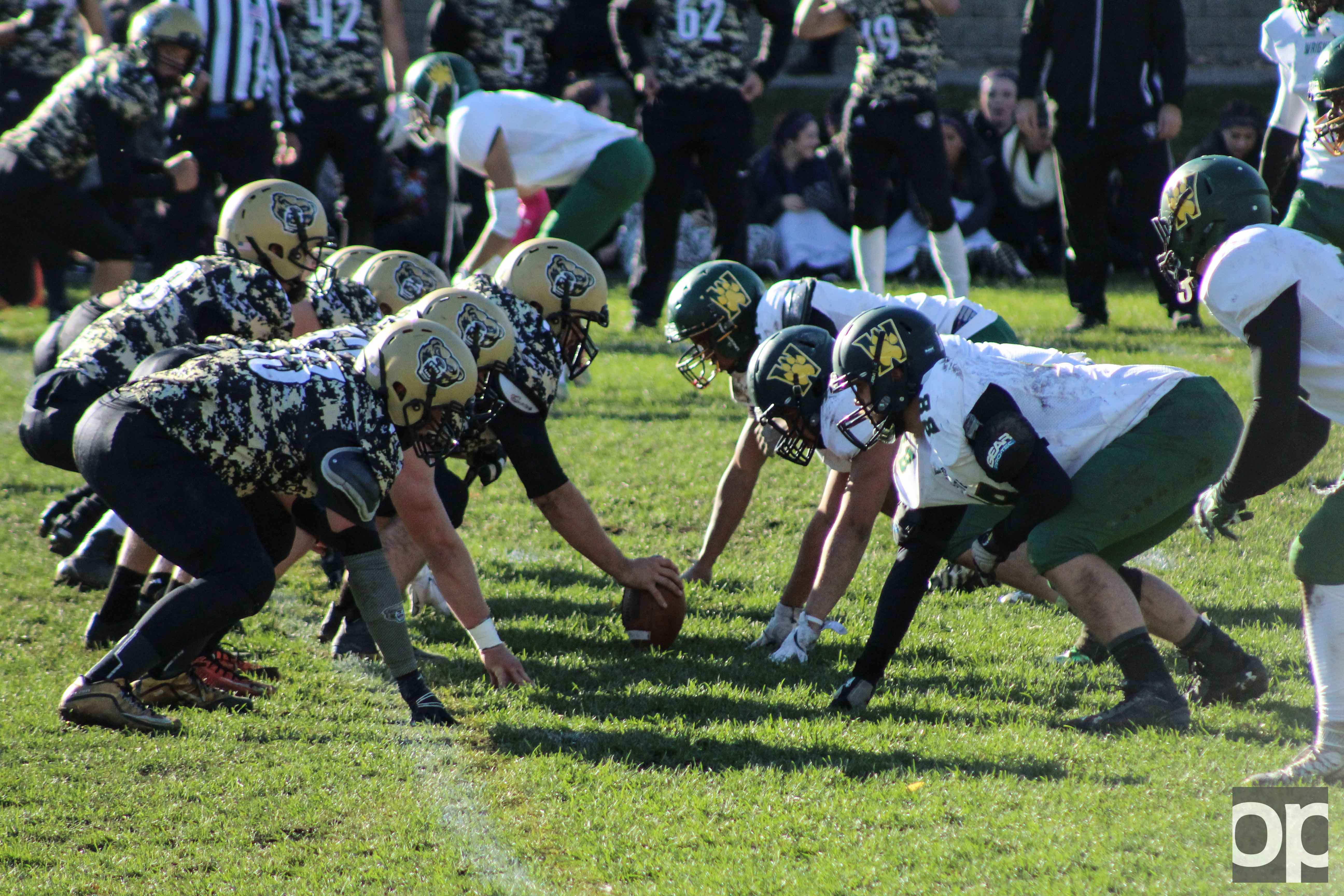 Oakland club football continues undefeated season beating Wright State at the last home game of the season.