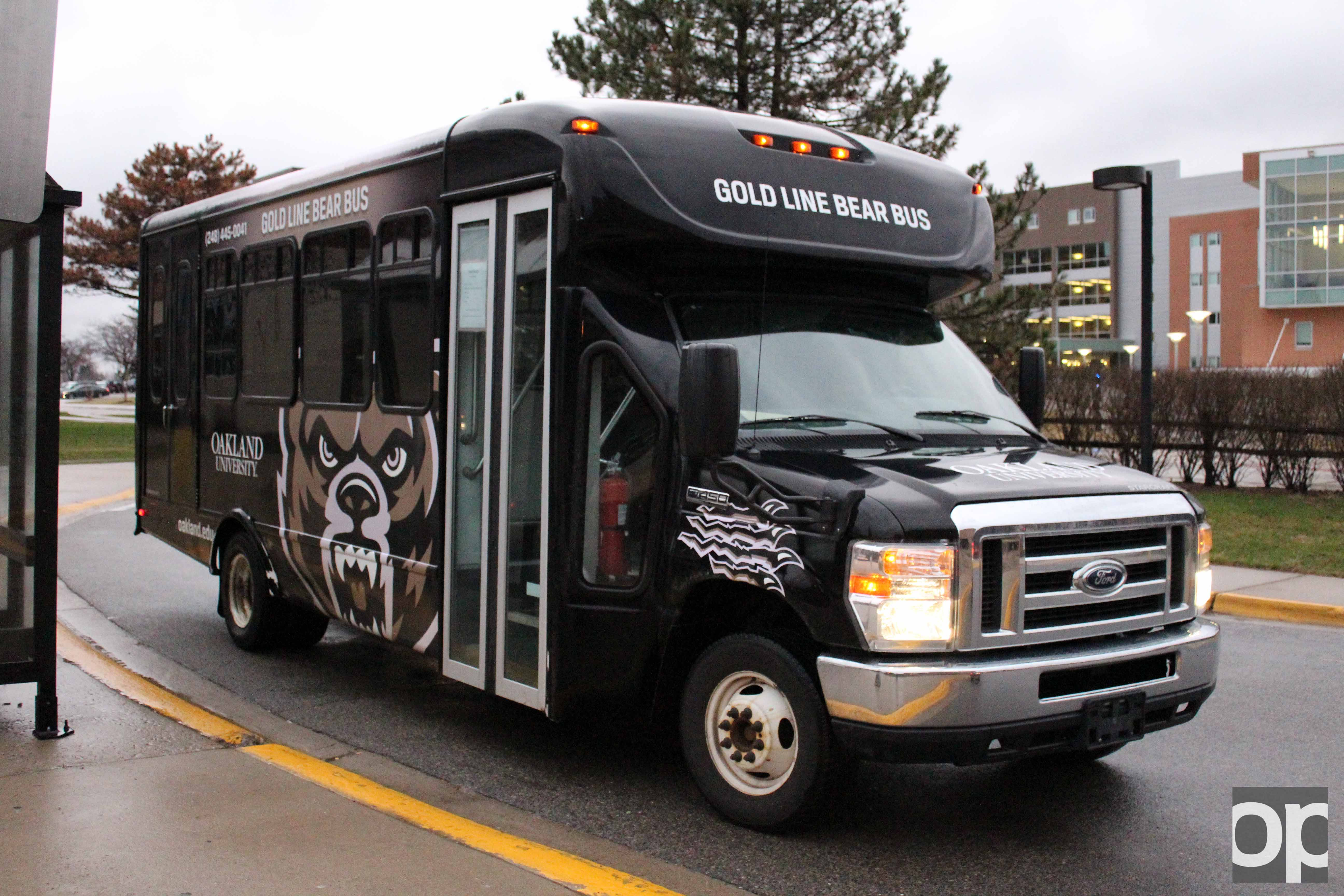The Bear bus provides transportation for students and faculty to locations within the campus and some off-campus locations.