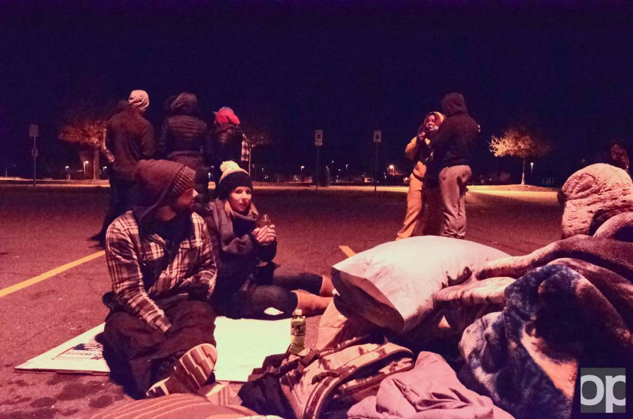Student Advocate of the Health and Science class spent a night in parking lot 2 to 'fight the night' and understand the struggles of the homeless.