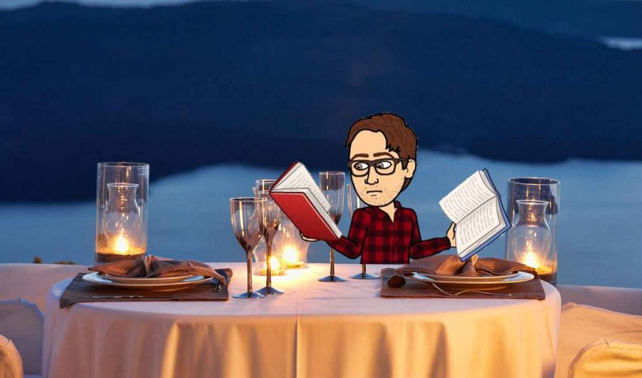 There are plenty of ways to sneak studying into date night. Bringing books to dinner never hurt anybody.