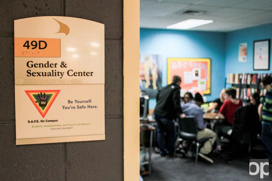 The Gender & Sexuality Center is located at 49D Oakland Center (basement of the OC).
