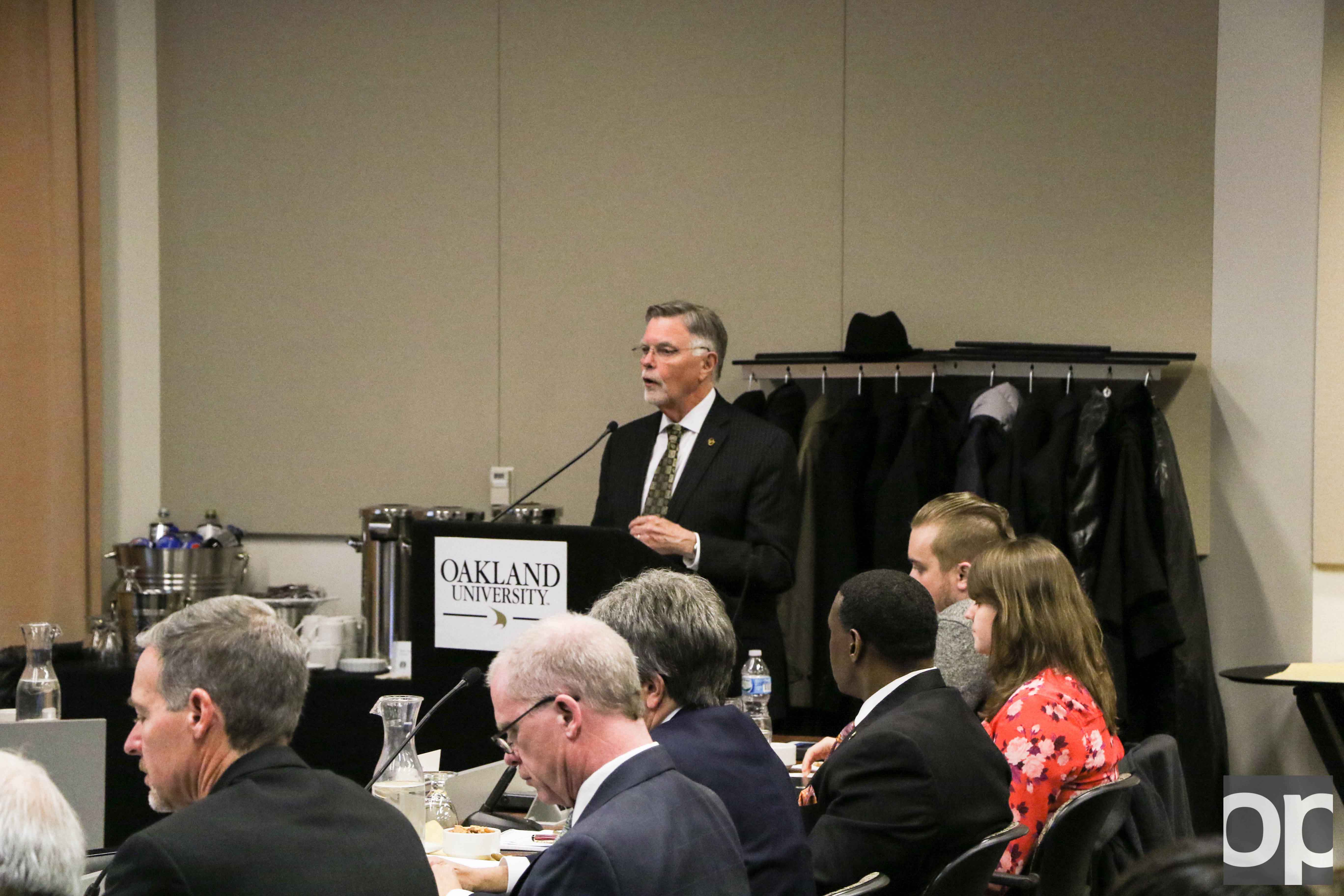 Oakland University Board of Trustees held a meeting on Monday, Dec. 5 to discuss new plans, continuing projects and successes of the school year.