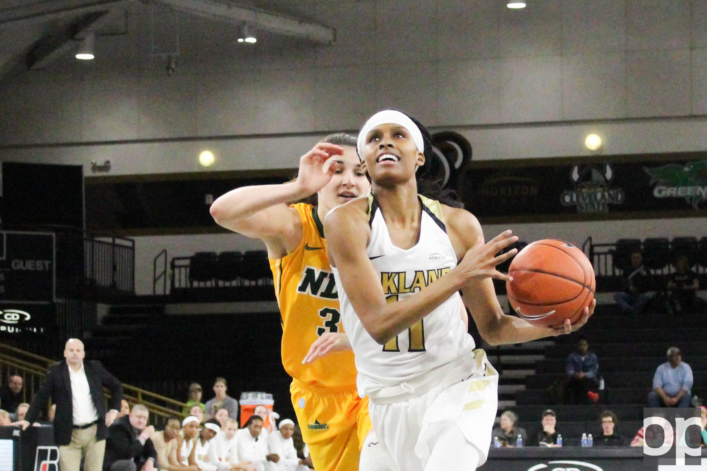 Hannah Little (18 points) followed Taylor Gleason's 22 points to lead Oakland into 95-66 win over North Dakota State University on Monday, Dec. 5 at the O'rena.