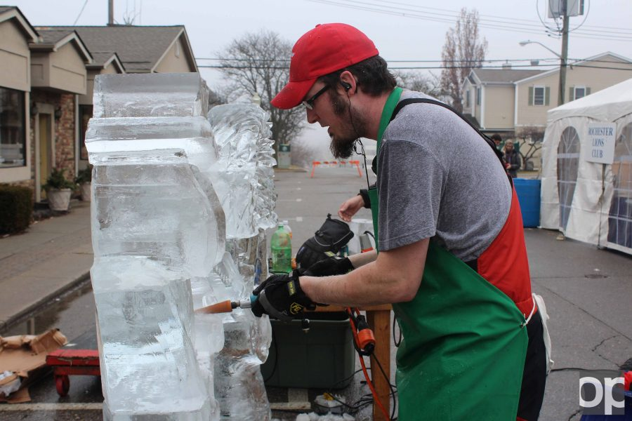 Despite the temperature being higher, ice sculptures were on display in Downtown Rochester for 10th annual Fire & Ice Festival.