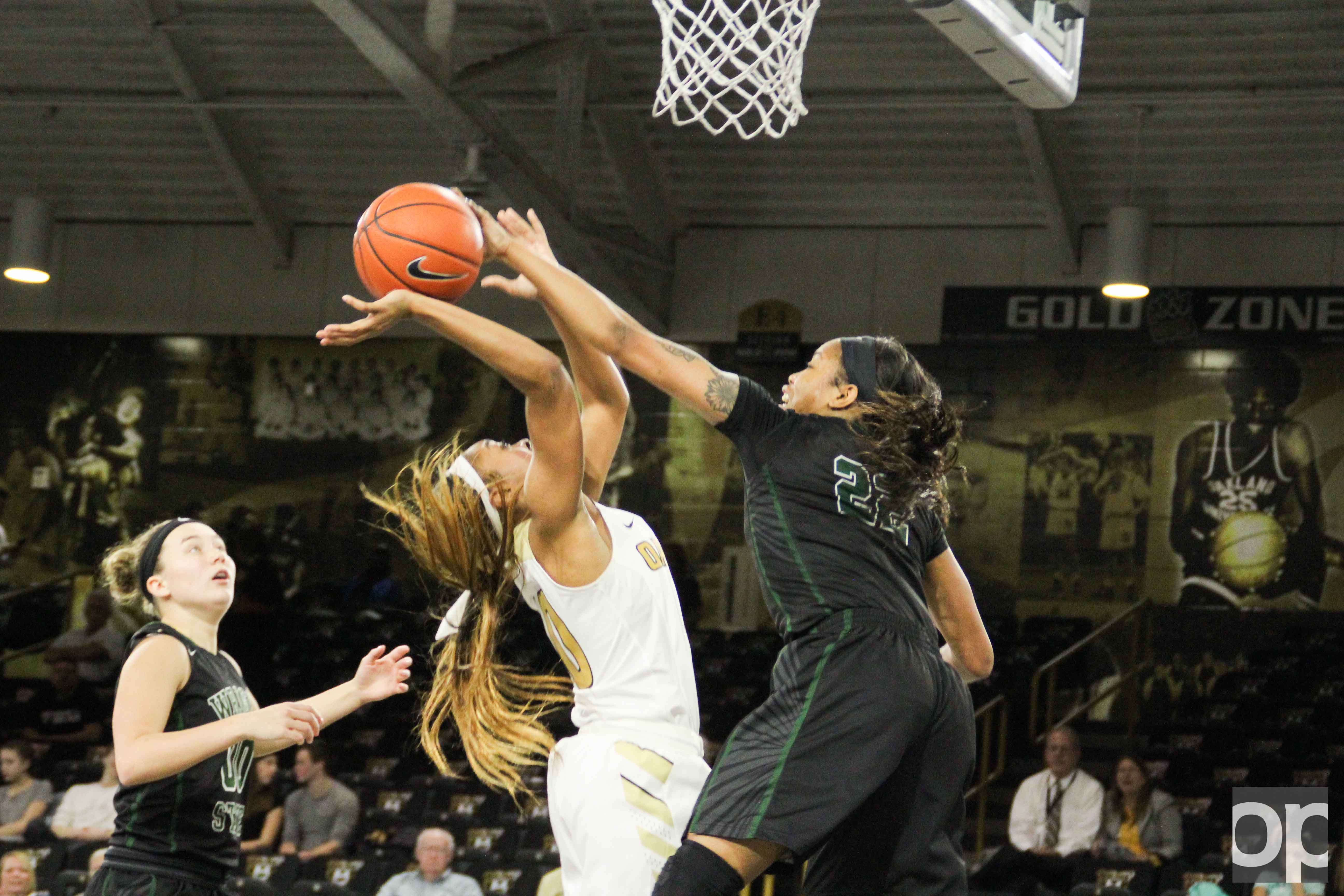 Wright State's Chelsea Welch led the team with 18 points and Oakland Taylor Jones led with 17 points Monday night at the O'rena. The Raiders defeated the Golden Grizzlies 73-61.
