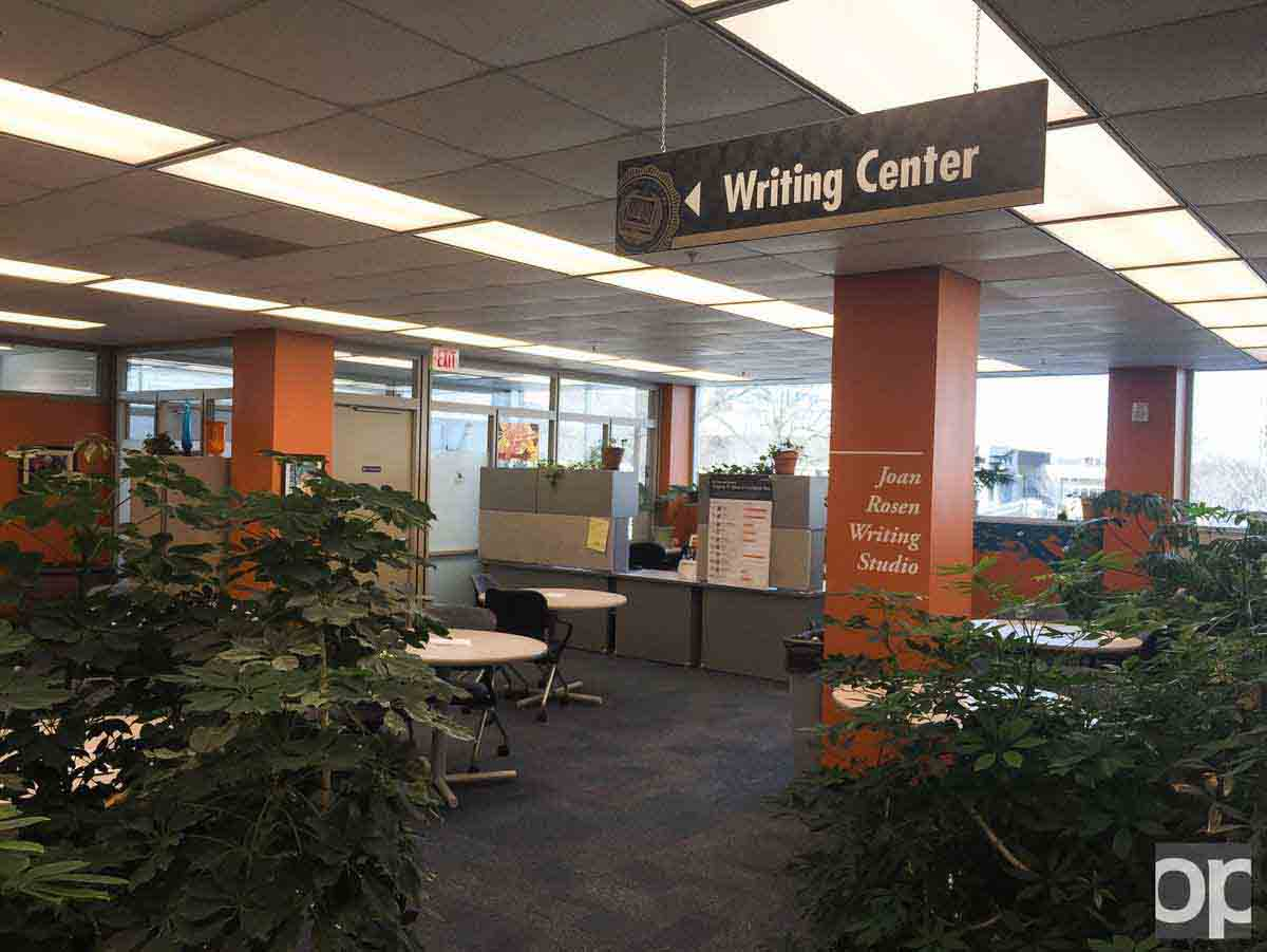 Writing Center, located on the second floor of the Kresge Library, offers writing assistance during the semester with tips and editing for papers.