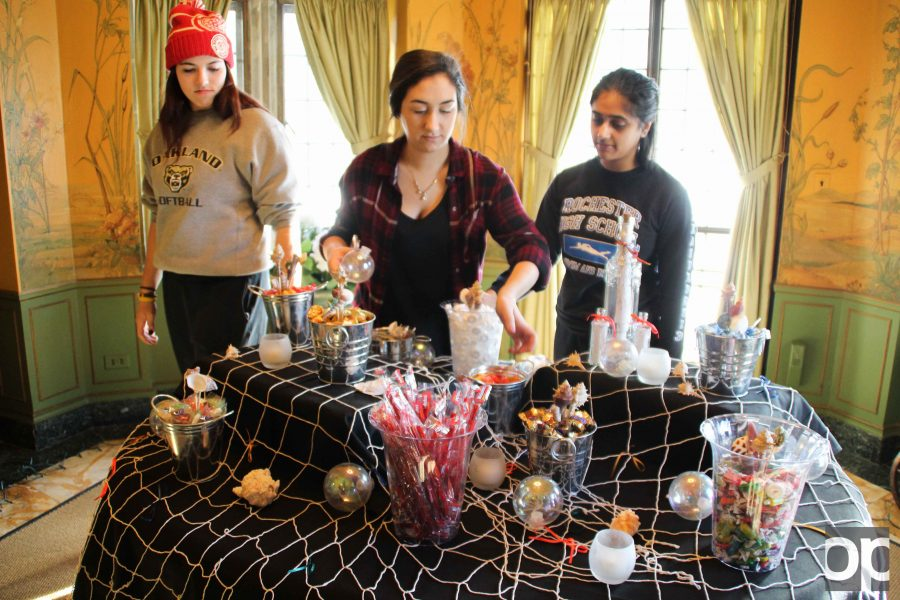 Members of the Meadow Brook Ball committee decorated the mansion with oceanic themed items for