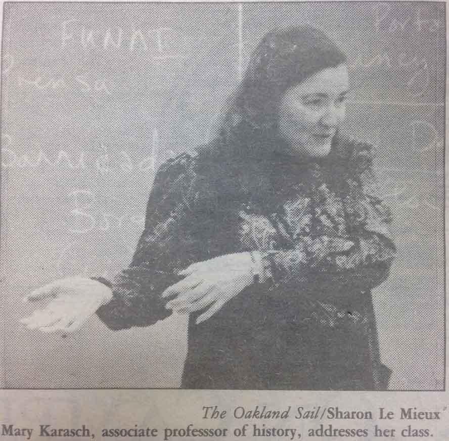 Karasch speaking to her class following allegations of classroom bias.