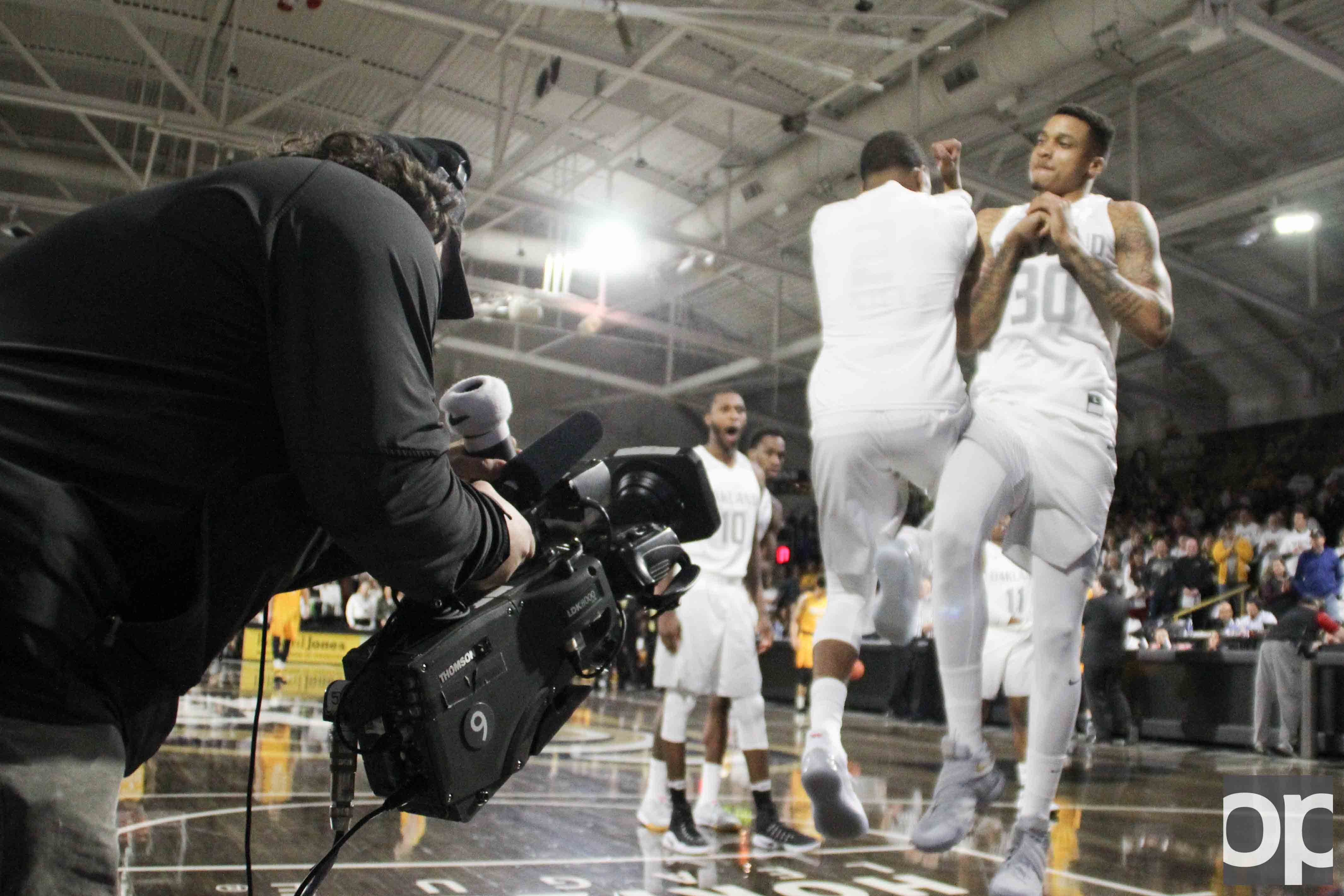 The men's basketball team enters the Motor City Madness tournament on March 4 as the No. 1 seed.