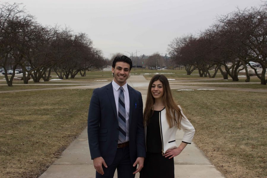So far, Lena Mishack (right) and Jousef Shkoukani are this year's only presidential and vice presidential candidates running in the student congress election.