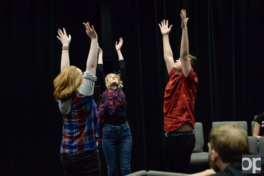 Performers+of+the+original+piece+%2245%2F16%22+rehearse+in+Varner+Hall.