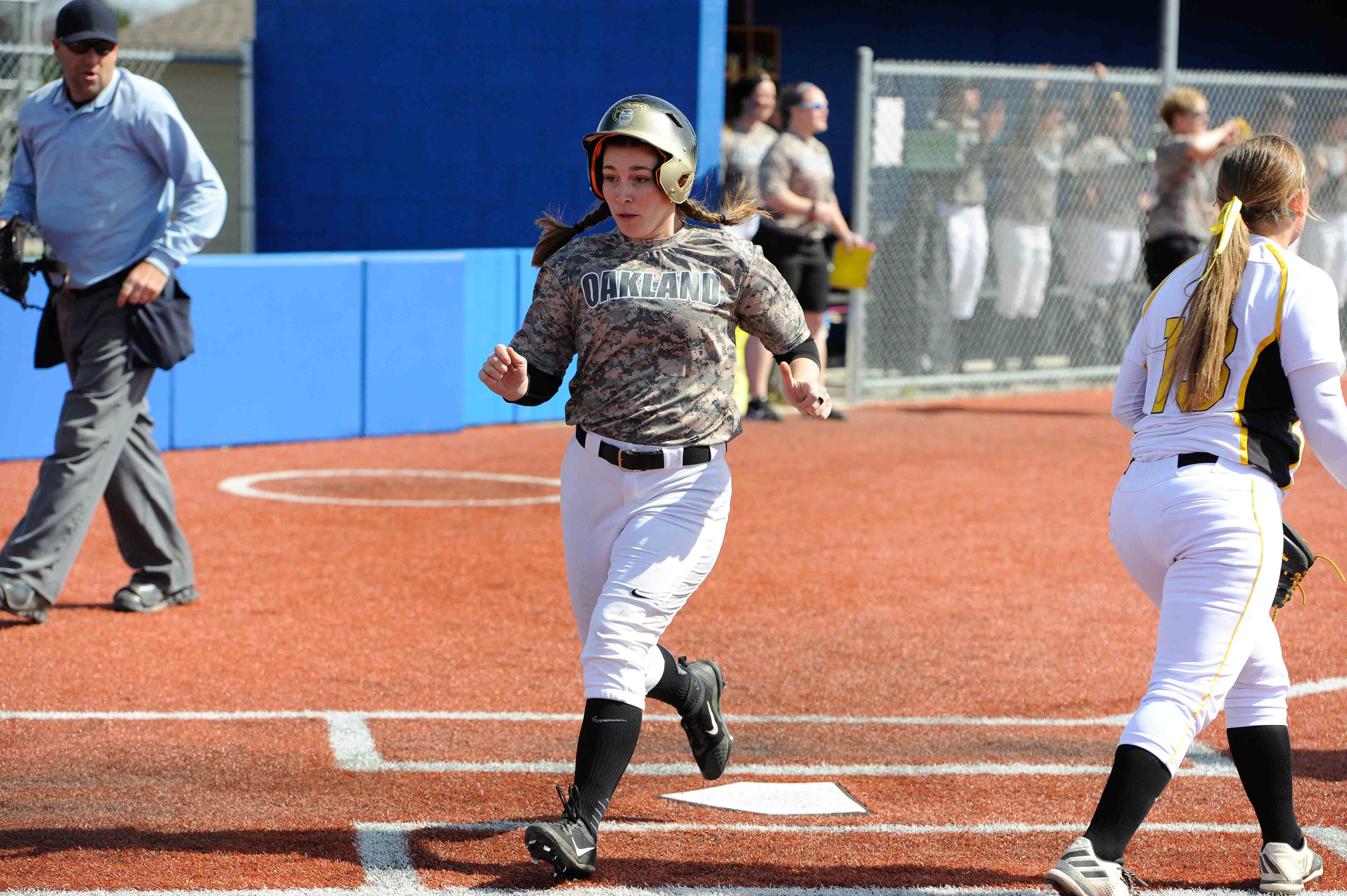 Abbey Walewski contributed a RBI single in the second inning of the third game against NKU.