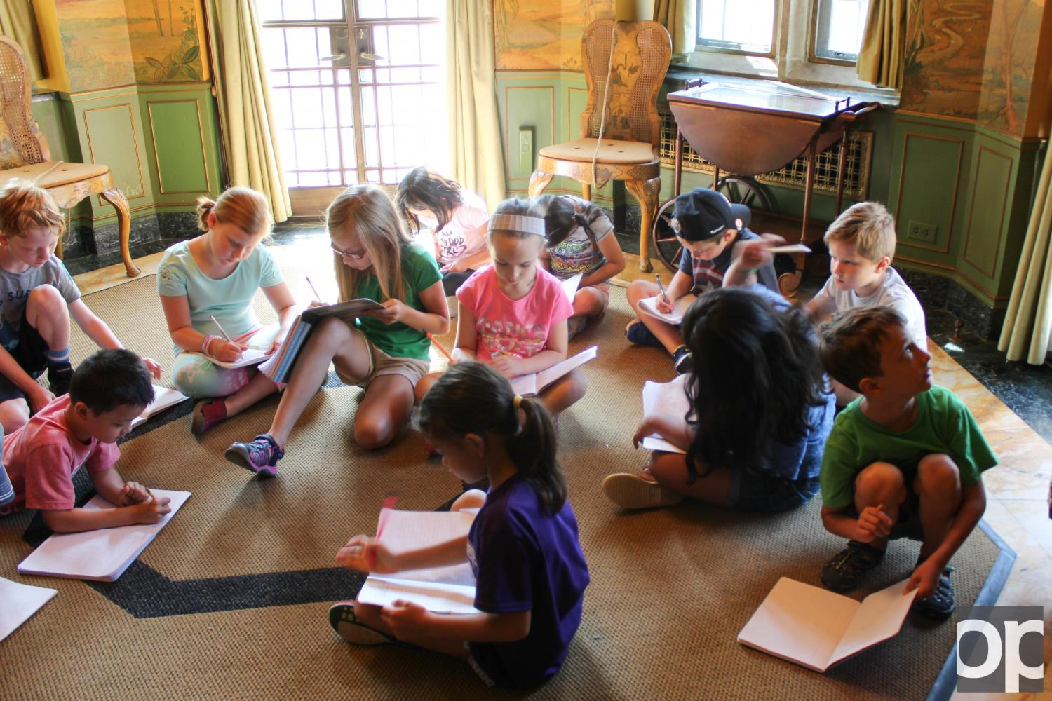 Kids+hone+their+writing+skills+inside+the+inspiring+halls+of+Meadowbrook+Mansion.