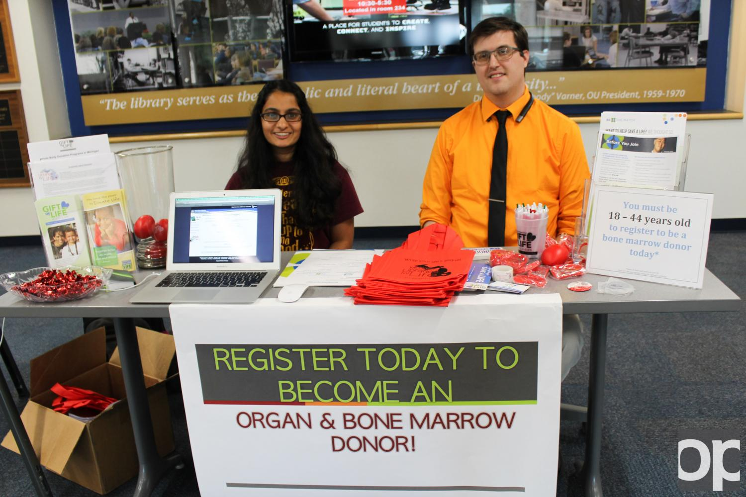 The OUWB registered 39 organ donors and 50 bone marrow donors during this annual drive.