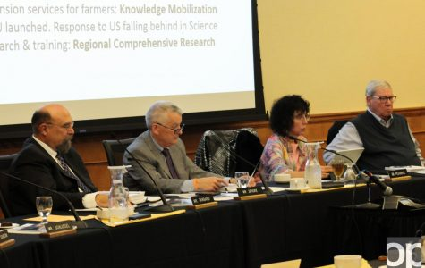 Board of Trustees hears president's report, discusses research