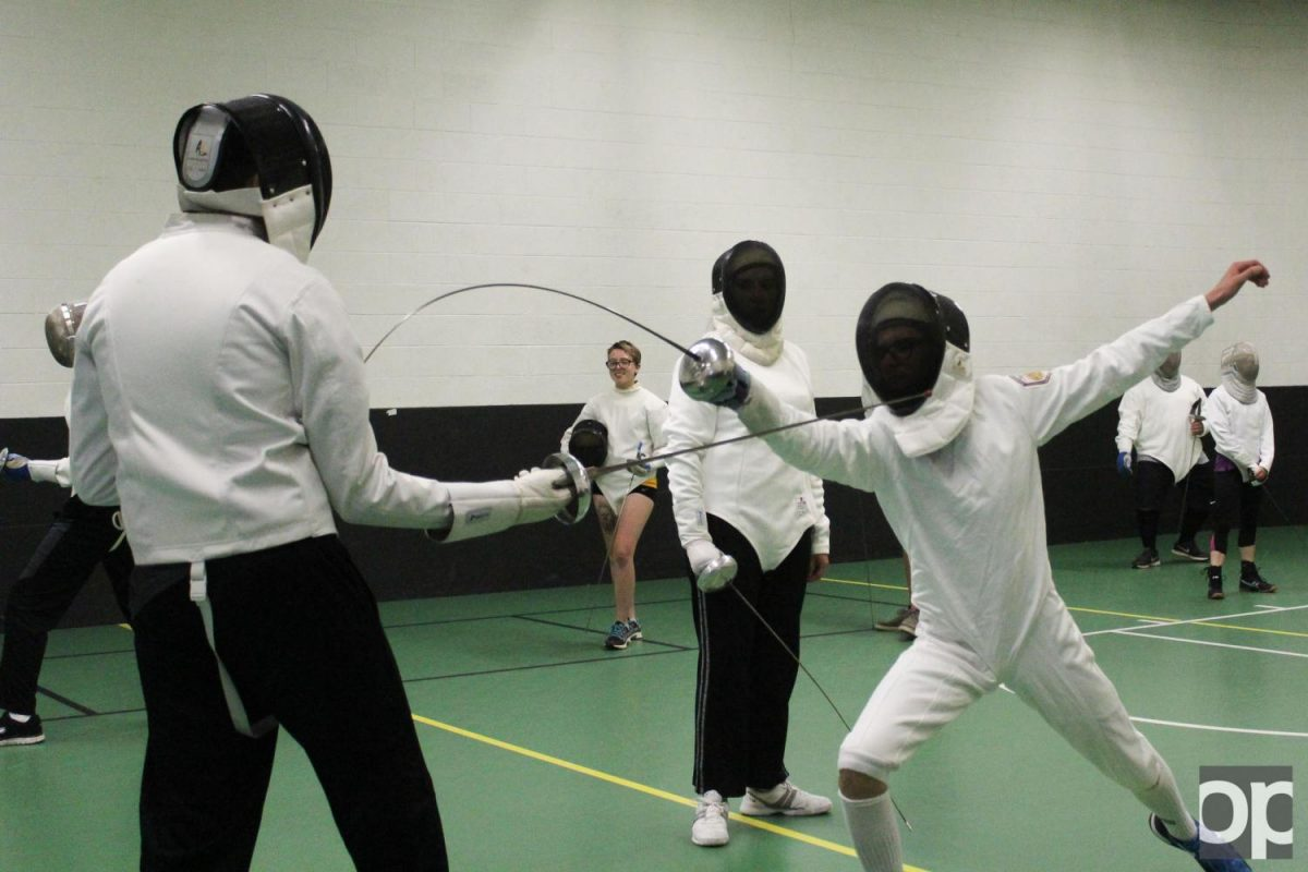 The Fencing Club likes to keep practices competitive to prepare for facing off against other universities.