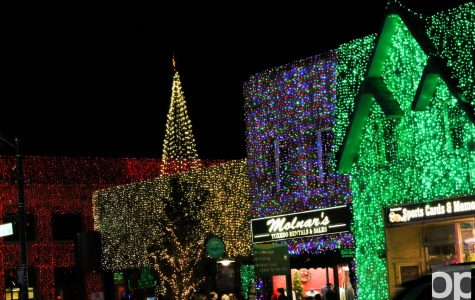 Lights brighten up local businesses in downtown Rochester