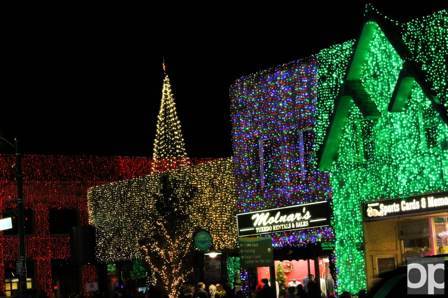 The Big, Bright Light Show in downtown Rochester attracts many to the local businesses in the spirit of the holidays.