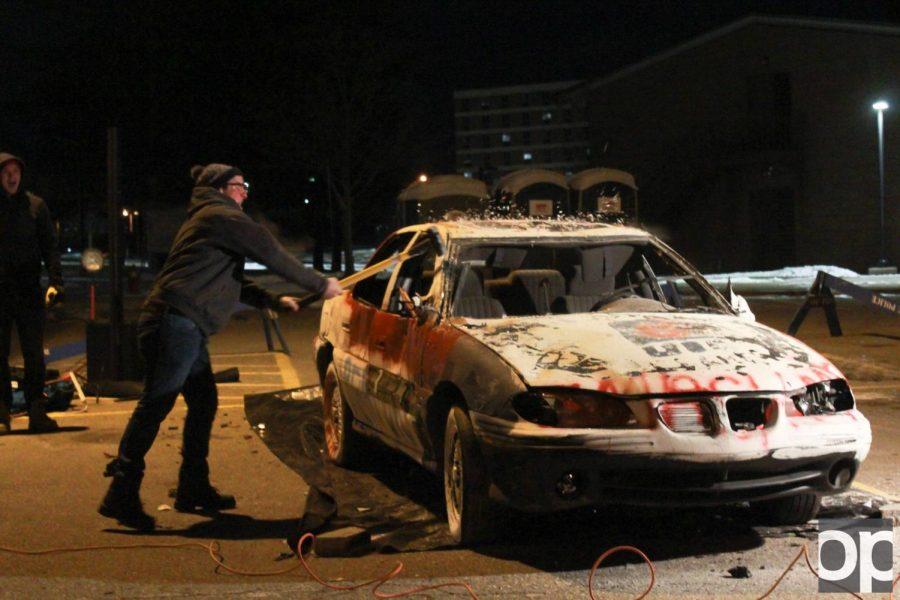 TKE+fraternity+smashes+car+for+good+cause