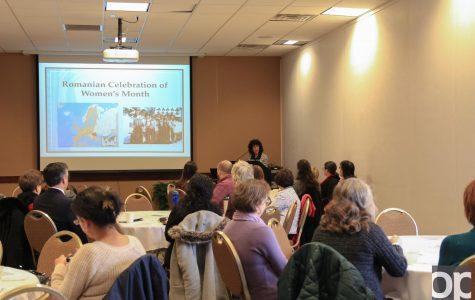 #PressForProgress during Women's History Month on campus