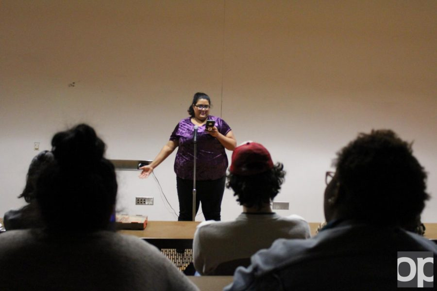 Members of GSA, OU Feminists, and NextGen read emotional poems both written by themselves and others.