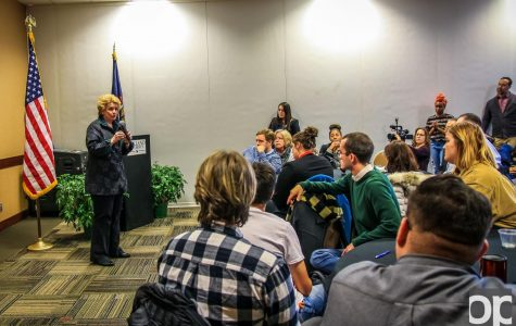Senator Debbie Stabenow talks gun control and other issues at OU town hall