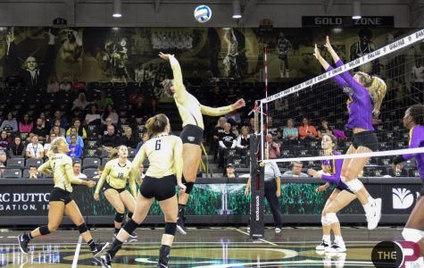 "Volleyball falls 3-0 to LSU on ""Overflow the O"" day"