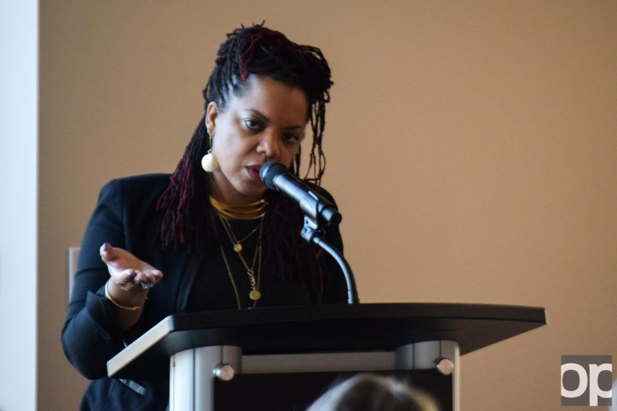 Poet Airea Matthews visits in honor of the annual Maurice Brown Poetry Reading