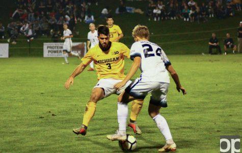 Men's soccer loses 2-1, sets attendance record vs UM