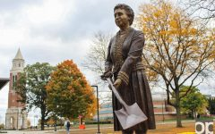 Statue of university founder is the newest addition to OU's art collection