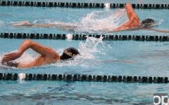 Oakland swim and dive teams display friendly competition at annual Black and Gold Meet
