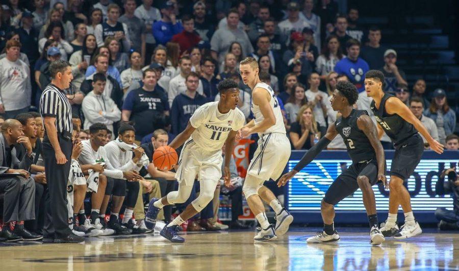 Men's Basketball falls to Xavier 73-63