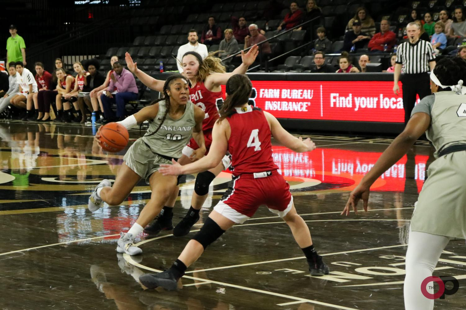 Golden Grizzlies come up short against IUPUI in women's basketball Thursday.