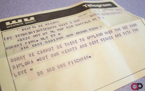 Professor receives telegram 50 years late