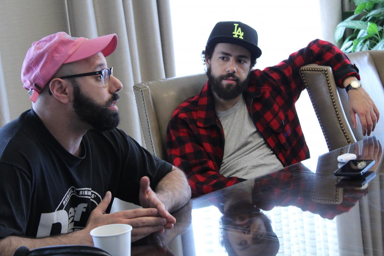"""From left: Comedians Dave Merheje and Ramy Youssef star in the new Hulu series """"Ramy."""""""