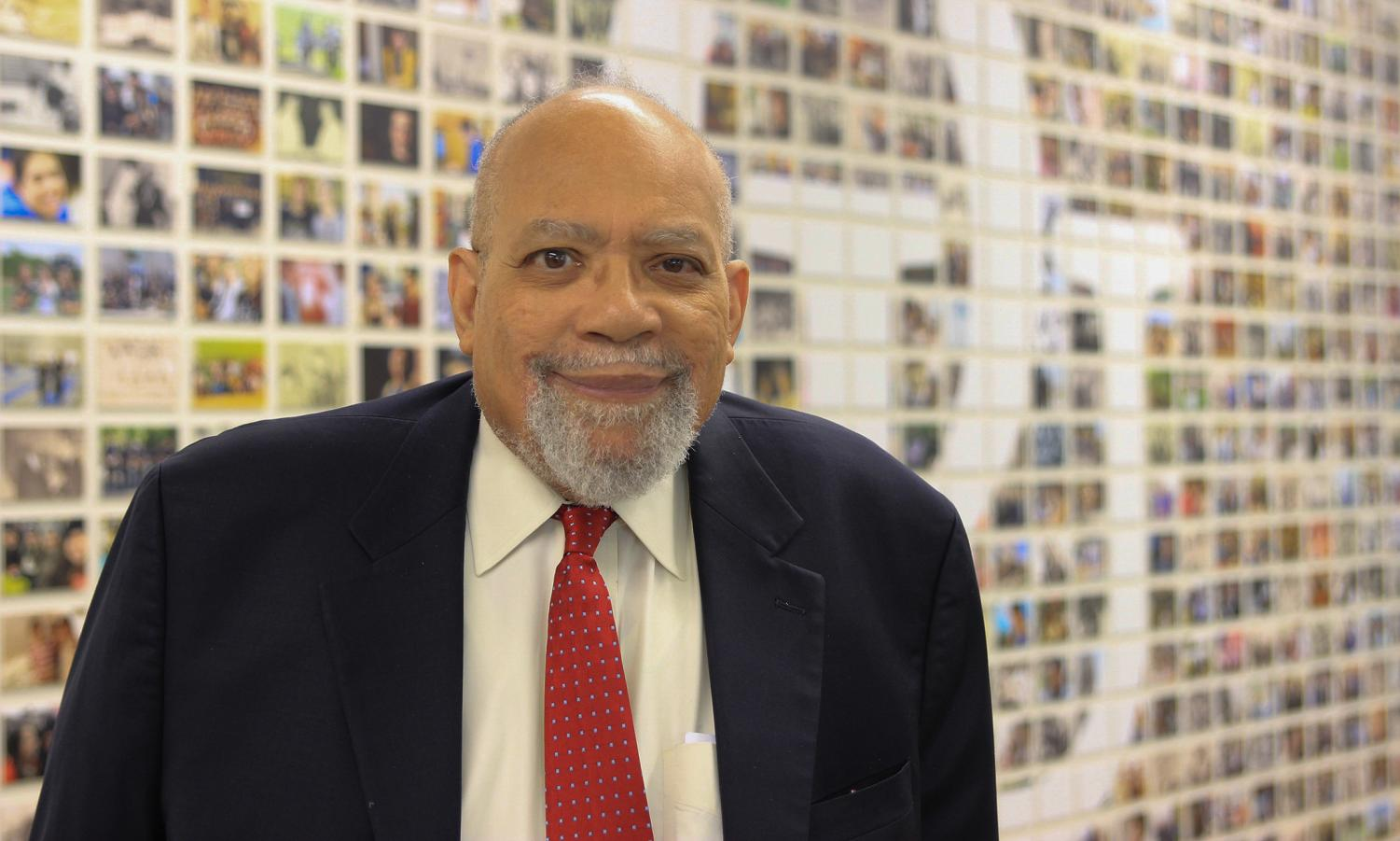 """History professor De Witt Dykes receives the Michigan Chronicle's """"Men of Excellence"""" award, which recognizes local African American men who inspire others through their work."""