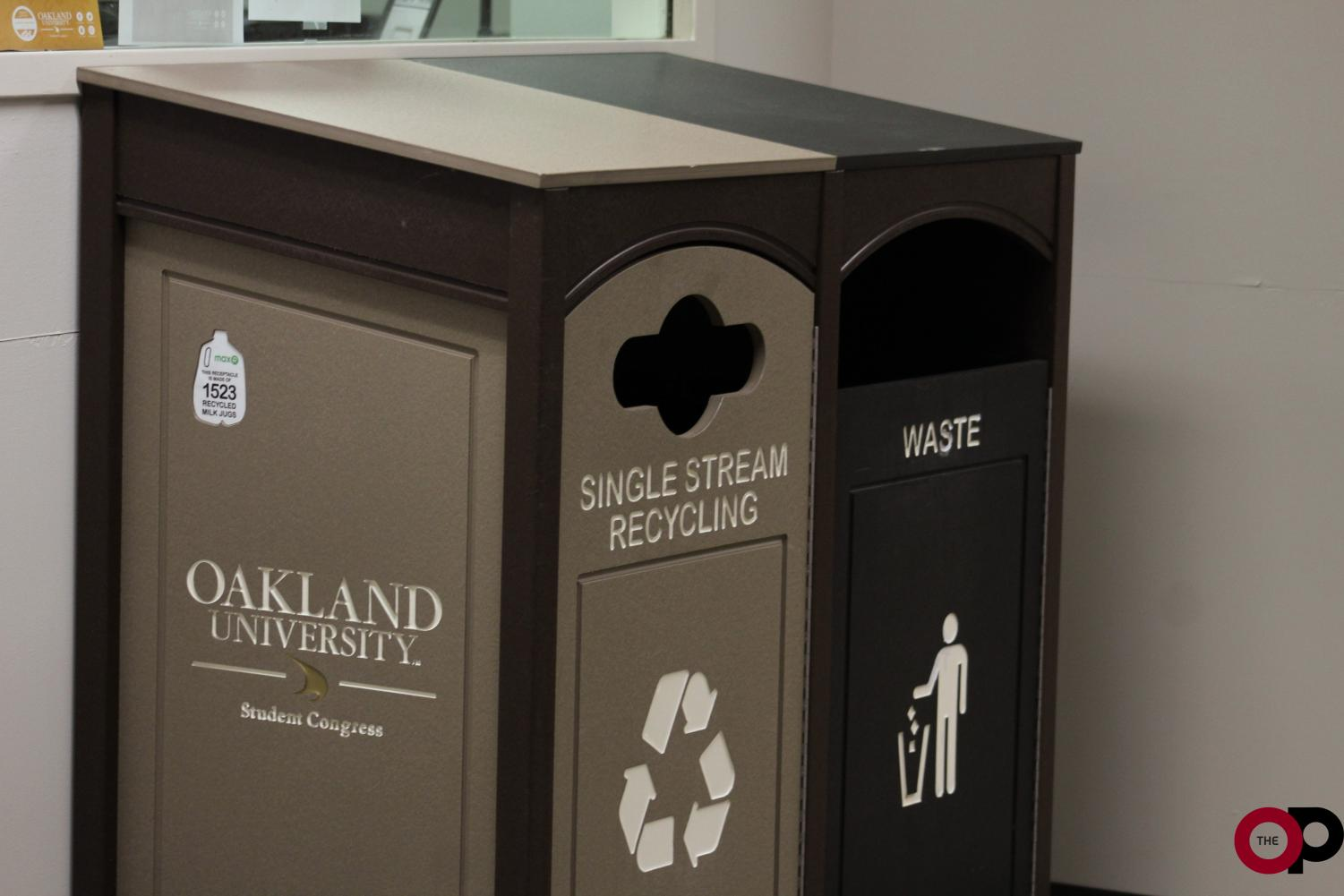 Offices across campus will receive labeled single-stream recycling bins to promote mindfulness of the environment.