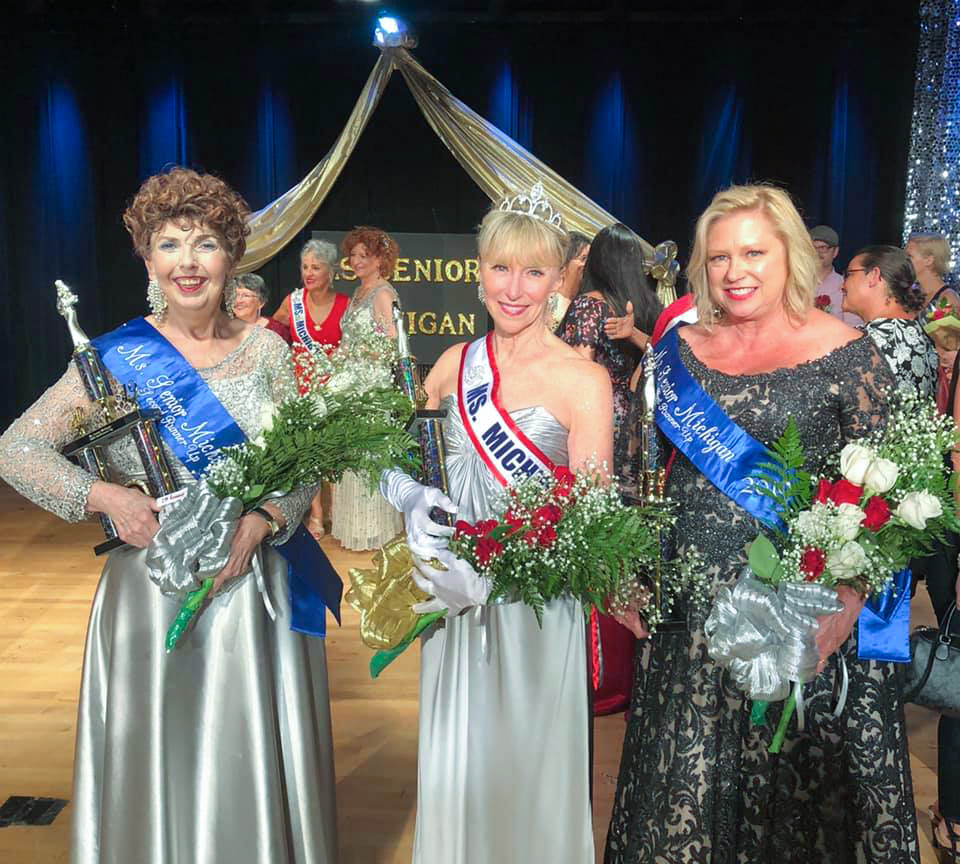 OU alum Cathy Roe is crowned 2019 Ms. Senior Michigan on July 17 at the Rochester Older Persons Commission (OPC).