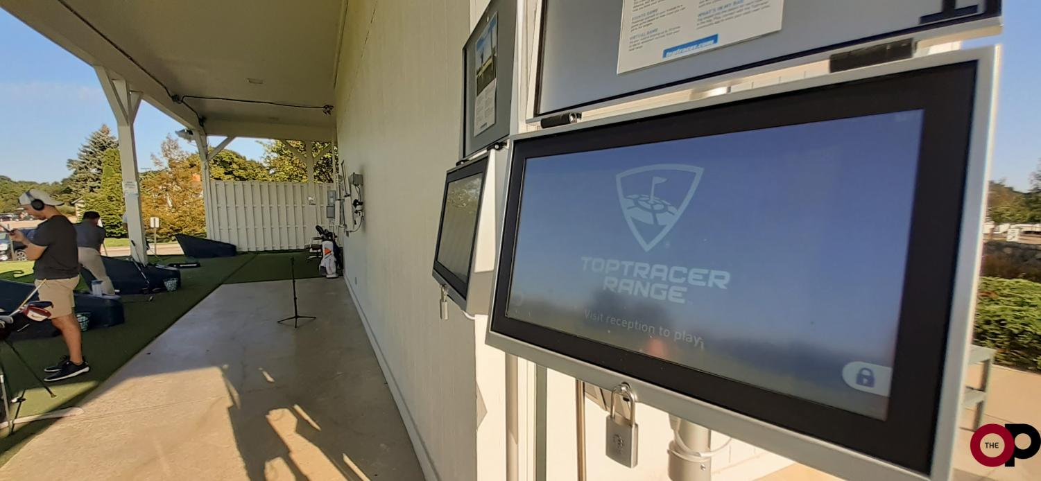 The new TopTracer technology on OU's driving range traces ball flight and distance in real time.