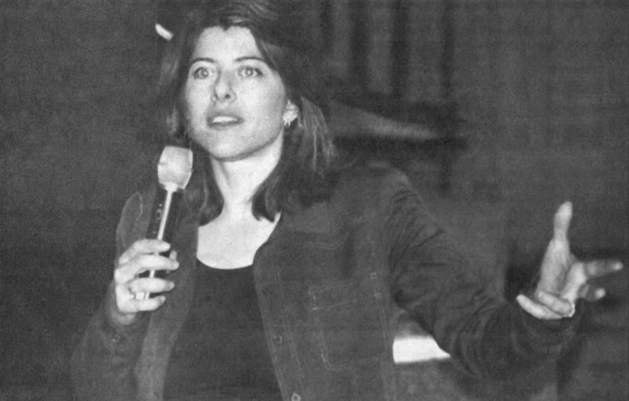 Author Naomi Wolf spoke at Meadow Brook Theatre for Womens History Month in March 2002.
