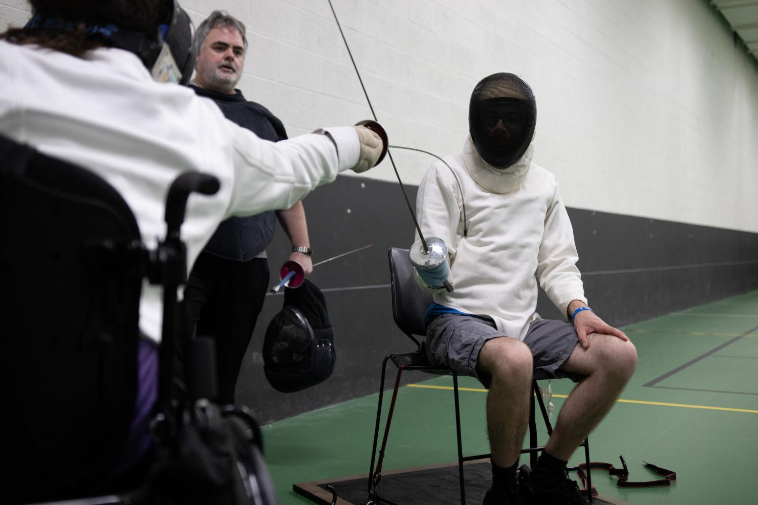 Parafencing, or fencing while using a wheelchair, is the first accessible club sport at OU, according to team captain Alissa Bandalene.