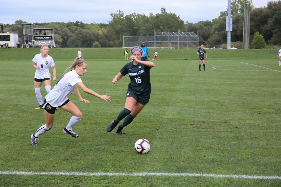 The Golden Grizzlies faced off against MSU on Sunday, Sept. 15, with the second highest crowd attendance record in program history. The Grizzlies fell to MSU 2-0.