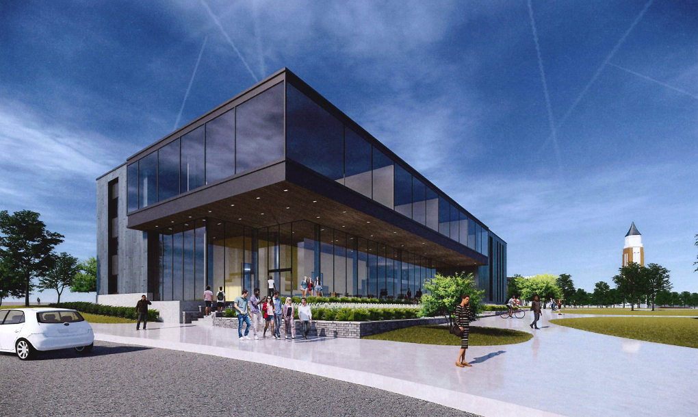 South Foundation Hall renovations are expected to be completed by Fall 2021.